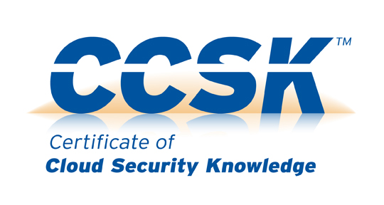 The logo for CCSK (Certificate of Cloud Security Knowledge)