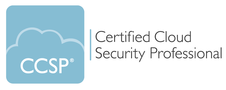 The logo for CCSP (Certified Cloud Security Professional)