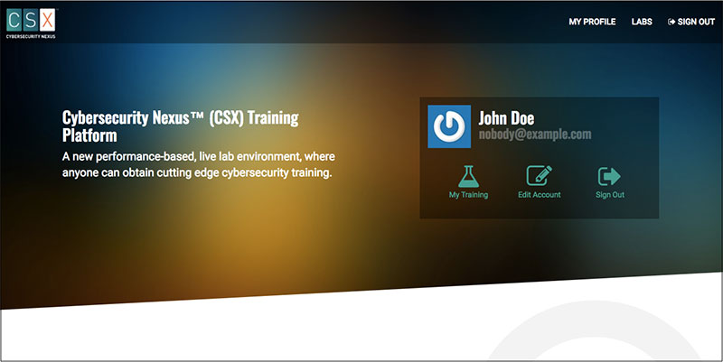 ISACA CSX Training Platform: User Login - Intrinsec
