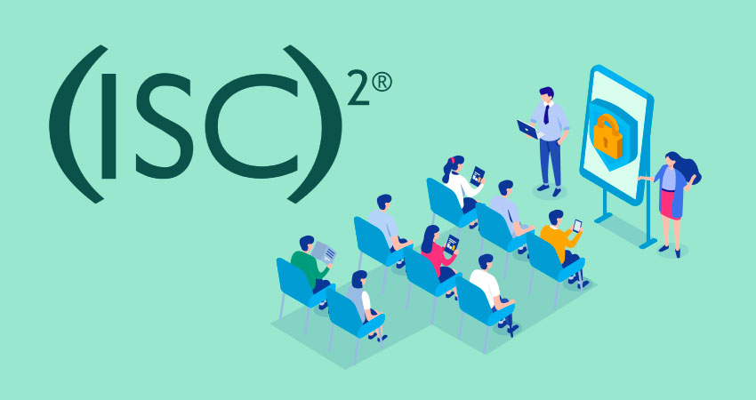 ISC2 logo with illustration of a classroom setting