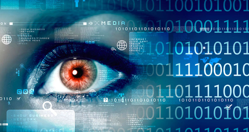 cybersecurity image with a large eye