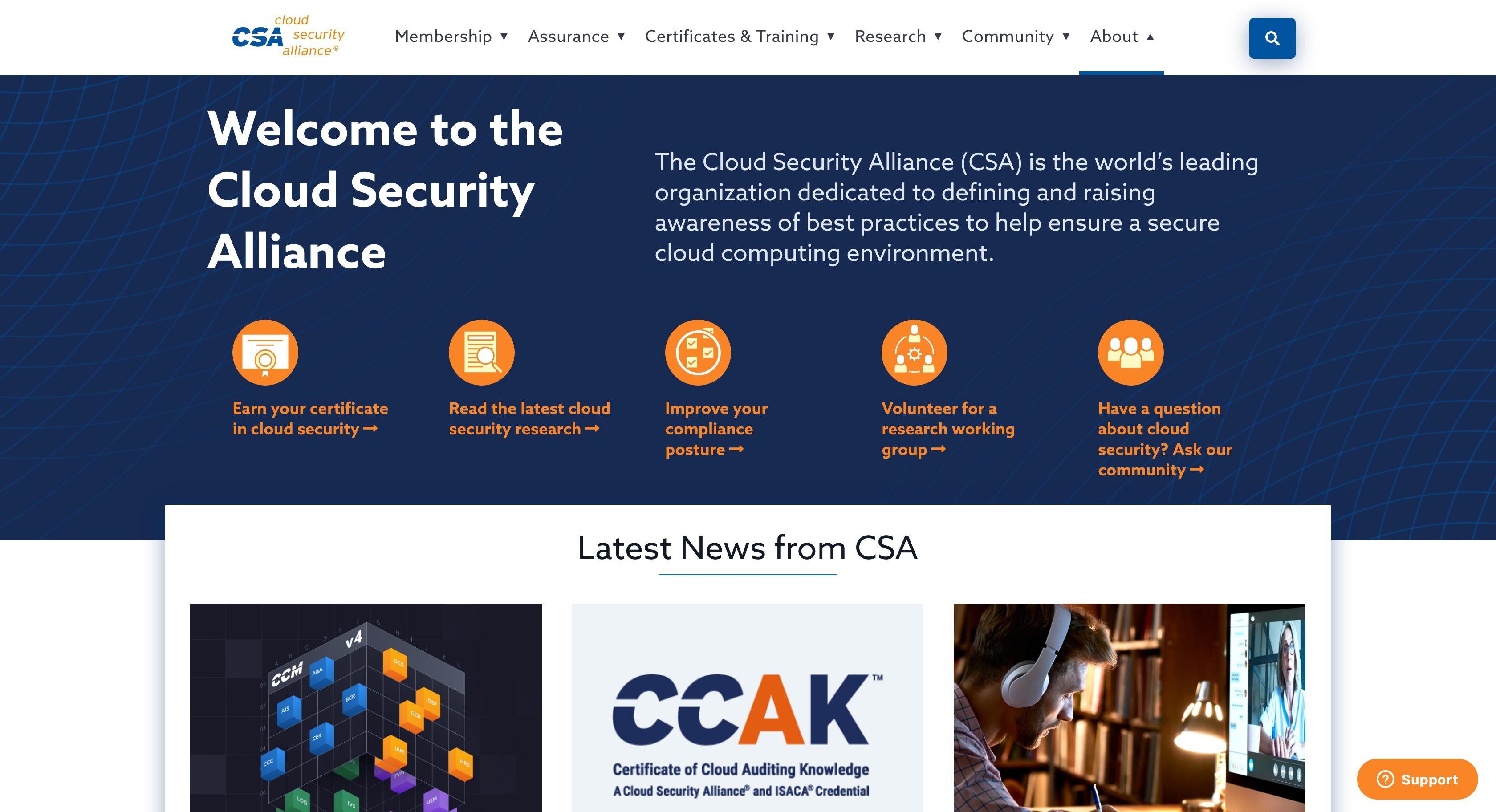 CSA home page