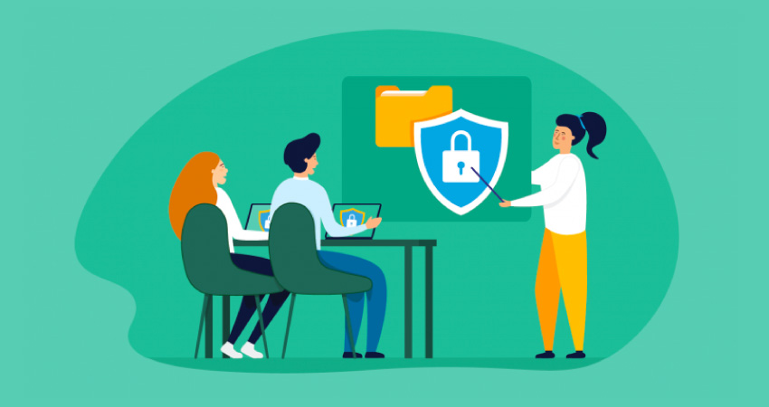 cybersecurity training class illustration