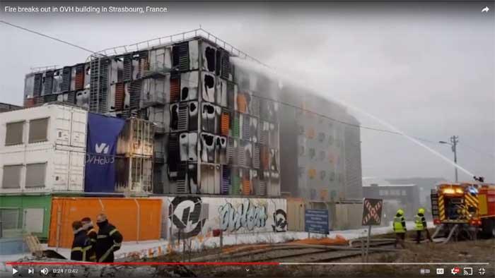 OVH fire screenshot from video