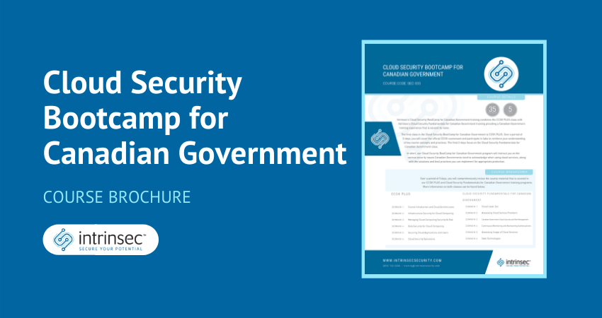 Cloud Security Bootcamp for Canadian Government thumbnail