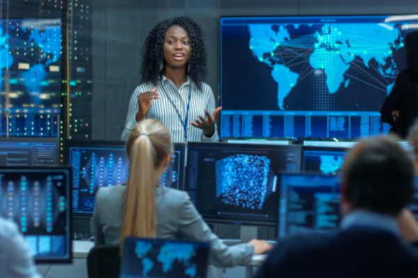 cybersecurity team leader and her team