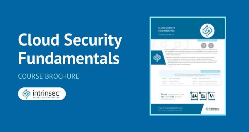 cloud security fundamentals brochure thumbnail